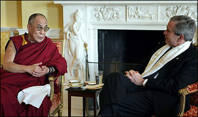 Далай-лама и Буш