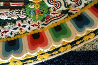 Трехмерный внешний лотос песочный мандалы Чакрасамвары