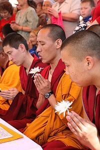 Тибетские и калмыцкие буддийские монахи
