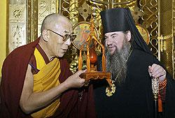 С представителями РПЦ у Далай-ламы отношения братские.
