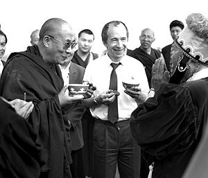 Его Святейшество Далай-лама посетил Лагань в 1992 году