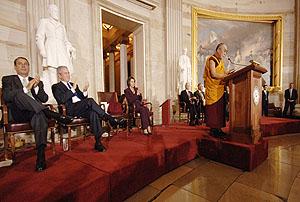 Обращение Его Святейшества Далай-ламы по случаю вручения Золотой медали Конгресса США