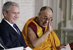 Обращение Президента США Джорджа Буша по случаю вручения Далай-ламе Золотой медали Конгресса США