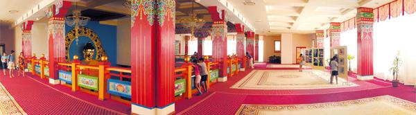 Выставочный зал, комнаты монахов, администрации и кабинеты для индивидуального приема