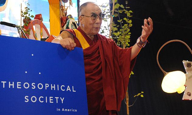 Далай-лама высоко отозвался о Теософском обществе Америки