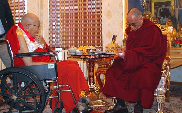 Далай-лама встретился с Богдо-гэгэном в Монголии
