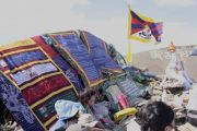 На священную гору Догээ в Туве доставили Пламя Истины