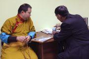 Встреча Тело Тулку Ринпоче с с альпинистом и писателем Маадыр-оолом Ховалыгом.