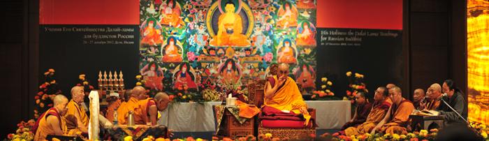 РИА Новости: Далай-лама проводит в Дели учения для буддистов России