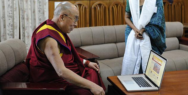Далай-лама запустил официальный сайт на хинди