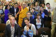 Российские буддисты в Вильнюсе смогли задать Далай-ламе волнующие их вопросы