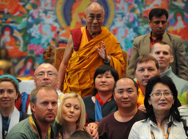Фотографии российских паломников с Его Святейшеством Далай-ламой. Дели - 2013