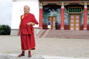В Центральном хуруле Калмыкии состоялся ритуал цог, посвященный памяти геше-лхарамбы Тензина Дугды