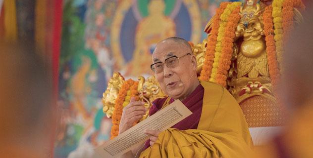 """Прямая трансляция. Учения Его Святейшества Далай-ламы по """"Алмазной сутре"""""""