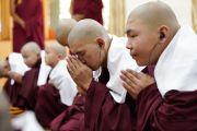 Послушники из Монголии принимают монашеские обеты от Его Святейшества Далай-ламы. Дхарамсала, Индия. 8 октября 2018 г. Фото: дост. Тензин Джампхел.