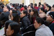 Слушатели во время первого дня диалога Его Святейшества Далай-ламы с китайскими квантовыми физиками. Дхарамсала, Индия. 1 ноября 2018 г. Фото: дост. Тензин Джампхел.