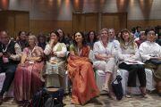Слушатели во время презентации школьной программы социального, эмоционального и этического образования (СЭЭО). Нью-Дели, Индия. 5 апреля 2019 г. Фото: Тензин Чойджор.