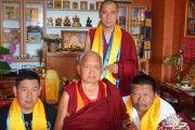 Духовный руководитель ФПМТ Лама Сопа Ринпоче и настоятель монастырского комплекса «Лагань Даргьелинг Хурул» Лобсанг Зунду.