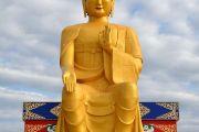Статуя Будды Майтреи в Лагани. 22 сентября 2019 г. Фото: «Лагань Даргьелинг Хурул».