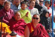 Монахи и верующие во время ритуала освящения статуи Будды Майтреи в Лагани. 22 сентября 2019 г. Фото: Центральный хурул Калмыкии.
