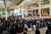 Его Святейшество Далай-лама выступает с обращением во время встречи с делегатами 3-го специального генерального собрания ЦТА. Дхарамсала, штат Химачал-Прадеш, Индия. 6 октября 2019 г. Фото: Тензин Чойджор (офис ЕСДЛ).
