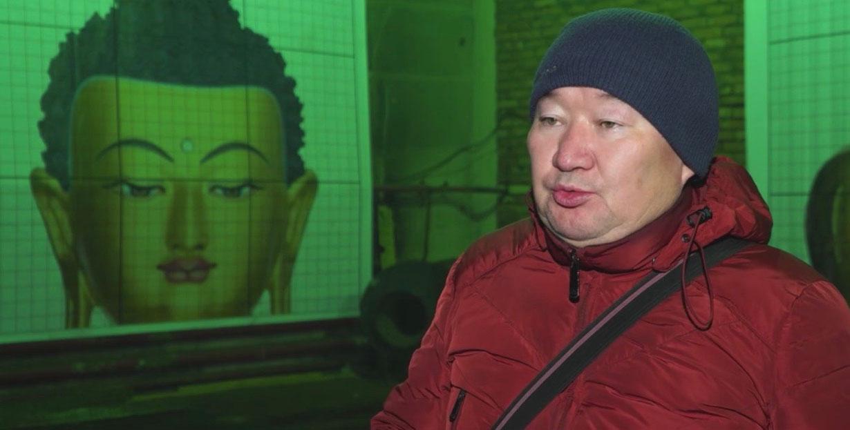 Видео. В Туве возобновлено строительство статуи Будды на священной горе