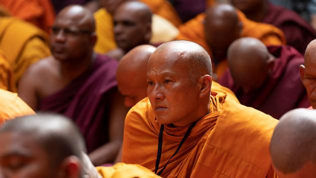 Далай-лама посетил Международный центр обучения бхикшу «Локуттара»