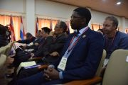 Мхулеко Хленгва, депутат парламента ЮАР, член партии свободы Инката, во время Восьмой международной конференции групп поддержки Тибета. Дхарамсала, Индия. 3 ноября 2019 г. Фото: ЦТА.