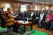 Его Святейшество Далай-лама дарует наставления делегатам Восьмой международной конференции групп поддержки Тибета. Дхарамсала, Индия. 4 ноября 2019 г. Фото: офис ЕСДЛ.