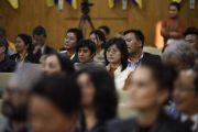 Некоторые из 180 сторонников тибетского вопроса из 42 стран мира во время заключительной сессии Восьмой международной конференции групп поддержки Тибета. Дхарамсала, Индия. 5 ноября 2019 г. Фото: ЦТА.