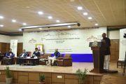 Главный гость Шри Аджай Сингх, президент Ассоциации индо-тибетской дружбы, выступает с обращением во время заключительной сессии Восьмой международной конференции групп поддержки Тибета. Дхарамсала, Индия. 5 ноября 2019 г. Фото: Тензин Пхенде (ЦТА).