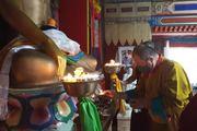 Шаджин-лама Калмыкии Тэло Тулку Ринпоче продолжает паломничество по святым местам Калмыкии
